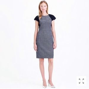 J. Crew Colorblock suiting striped dress